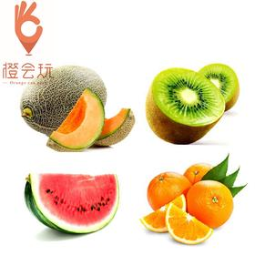 【四拼】奇异果+西瓜+哈密瓜+橙子 450g