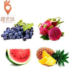 【四拼】火龙果+葡萄+西瓜+凤梨 450g
