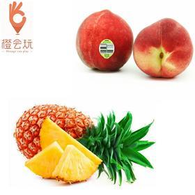 【双拼】凤梨+澳洲水蜜桃 250g