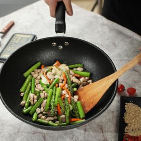 AXIMO阿西姆i760臻味麦饭石32cm/个|不粘锅 家用炒菜锅 煤气灶适用 炒菜专用【日用家居】