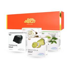 韩国进口Bubble ANGEL泡沫天使天然皂4块组合装 温和清洁护肤