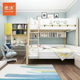 白蜡木实木儿童上下床高低床子母床木蜡油书桌书柜2020年新款