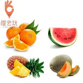 【四拼】凤梨+橙子+西瓜+哈密瓜  450g