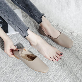 【时尚休闲 一鞋两穿】罗玛儿奶奶绡B款方口单鞋  超舒适 建议买大一码