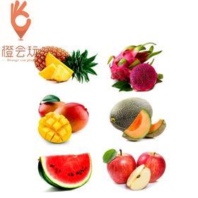 【六拼】火龙果+凤梨+芒果+西瓜+哈密瓜+苹果 1000g