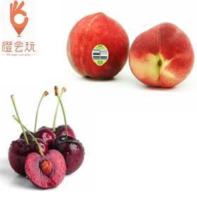 【双拼】车厘子+澳洲水蜜桃 250g