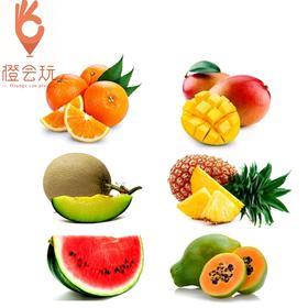 【六拼】网纹瓜+木瓜+凤梨+芒果+西瓜+橙子 1000g