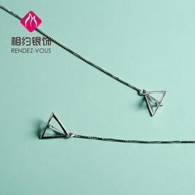 相约银饰S925银耳线三角耳线