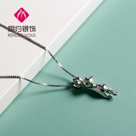 相约银饰S925银套链睡醒的猫套链
