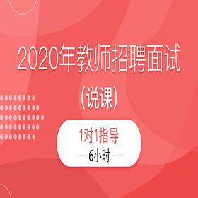 2020年教师招聘面试(说课)1对1指导11班【6小时】