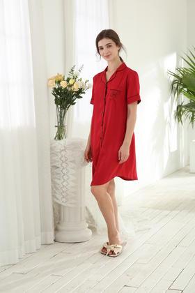 冰丝提花裙装家居服 14130124