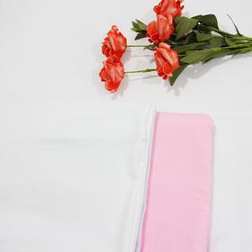 水洗棉床单白色粉色