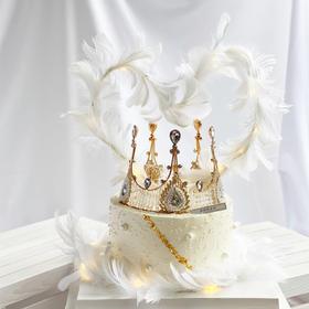 皇冠仙子·网红羽毛款皇冠生日蛋糕.dg