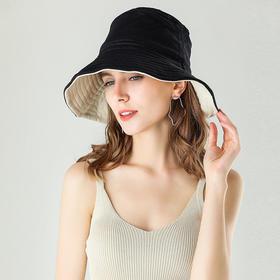 「显脸小 双面防晒渔夫帽」AMNMTS遮阳防晒帽,防紫外线,遮脸遮阳修饰脸型,时尚百搭,双面可戴轻便可折叠帽子