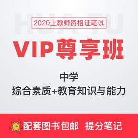 【中学-综合素质+教育知识与能力】2020上教师资格证笔试VIP尊享班