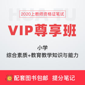 【小学-综合素质+教育教学知识与能力】2020上教师资格证笔试VIP尊享班