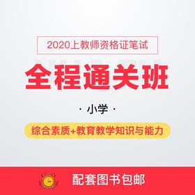 2020上小学教师资格证笔试全程通关班-综合素质+教育教学知识与能力(290+课时,全程直播,8本图书包邮)