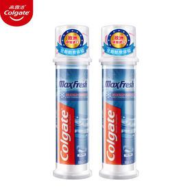 【欧洲原装进口】高露洁劲酷清爽(按压直立式)牙膏100ml*2 口腔小安瓶