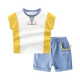 儿童夏季短袖短裤套装