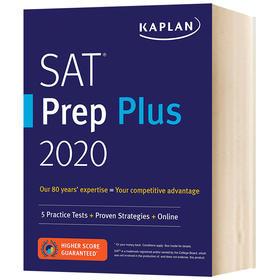 卡普兰SAT考试指南2020 英文原版书籍 Kaplan SAT Prep Plus 2020