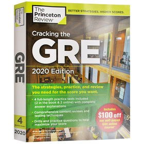 破解GRE考试2020年版英文原版 Cracking the GRE with 4 Practice Tests 2020 Edition