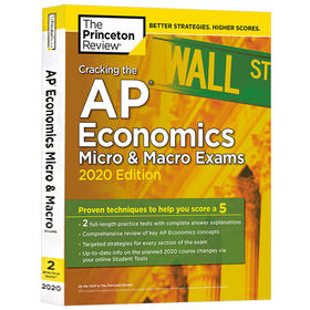 破解AP经济学考试2020版 英文原版 Cracking the AP Economics Micro & Macro Exams