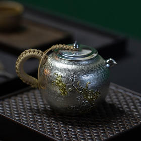 金菊泡茶银壶
