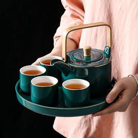 【描金陶瓷茶壶套装家用】尚恩陶艺功夫茶具花茶下午茶杯子居家日用礼盒装