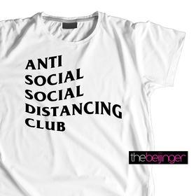 Anti Social Social Distancing-thebeijinger定制纯棉T恤