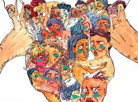 限量版画《亲热的人和你》1.2:1 版数99 李诗cisilee 35x48cm