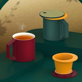 2020年泊喜X故宫宫廷文化联名--揽月·宫廷茶水恒温杯