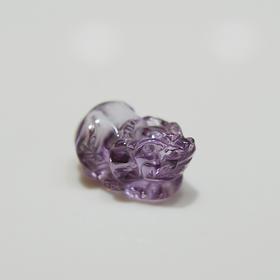 天然紫水晶貔貅吊坠