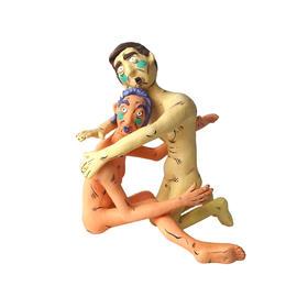 艺术衍生品 绿腮人体 摆件《亲热的八宝和七小姐》李诗cisilee 14x14cm