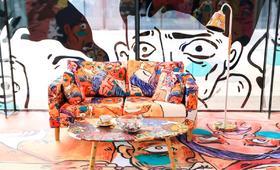 艺术衍生品  绿腮人体系列 沙发 李诗cisilee 140x66x78cm