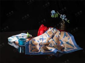 【100%桑蚕丝】太湖雪窗系列真丝斜纹小方巾