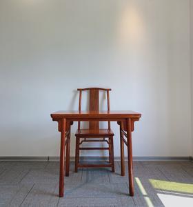 红桥红  家具严选  缅甸花梨(大果紫檀)  【小书桌两件套】