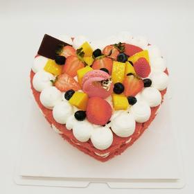 心型红丝绒裸蛋糕