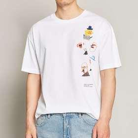墨麦客男装2020夏季新款圆领印花短袖t恤男士宽松半袖体恤衫7378