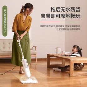 【爆款】日本Apixintl蒸汽拖把家用电动擦地拖地高温除菌非无线洗地机