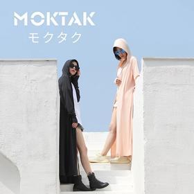 Moktak防晒衣长款抖音连帽蒙面衣女防紫外线户外骑车开车薄外套夏