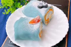 雾霾蓝芒果毛巾卷