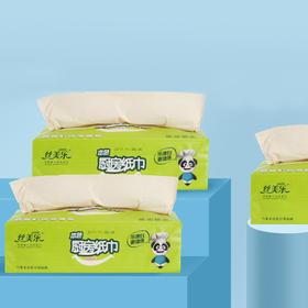 丝美乐竹浆本色厨房纸专用柜灶台用吸油纸吸水擦手纸50抽10包整箱