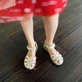 Paobinno帕比诺大包头男女童鞋 婴儿宝宝羊皮鞋 防滑凉鞋