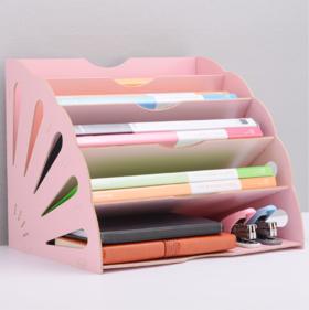 【办公室用品】*办公整理置物架筐文件架多层创意A4资料架木质桌面文件收纳架 | 基础商品