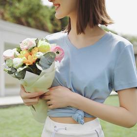 【2件更优惠!轻柔冰感,这夏一件就够了】HelloFree冰感丝光圆领V领T恤 高弹亲肤面料 多色可选