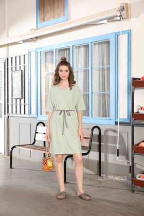 夏季针织棉裙装女士家居服 14130115