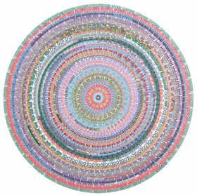 限量版画 《我就喜欢花花世界—数字》 版数20 黑一烊 81×82cm