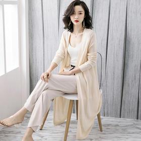 防晒衣女长款外搭夏季外套2020新款超仙冰丝针织空调衫薄款开衫