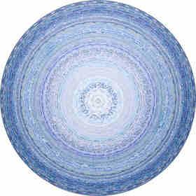 限量版画 《我就喜欢花花世界—蓝世界353》版数20 黑一烊 81×82cm