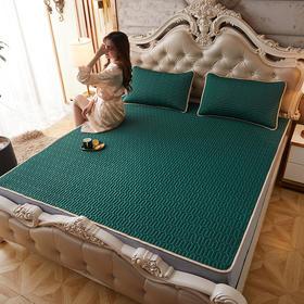睡觉自然凉!【乳胶凉席三件套】天然抑jun防螨;冰丝面料,凉爽透气;可折叠可水洗